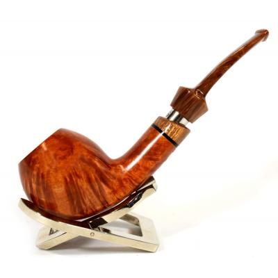 Adams Artisan By Ardor Quarter-Bent Egg 9mm Filter Swallowtail Pipe (ART142)