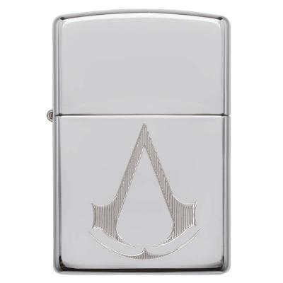 Zippo - High Polish Chrome Assassin\'s Creed Crest - Windproof Lighter