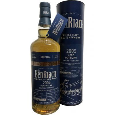 BenRiach 14 Year Old Cask #7553 Peated Dark Rum - 52.6% 70cl