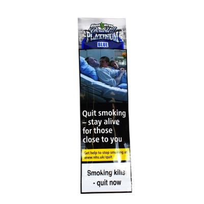 Double Platinum The Original Blunt Wrap - Blue (Formally Blueberry) - 1 Pack of 2 Wraps