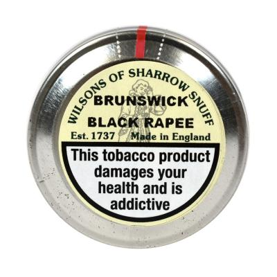 Wilsons of Sharrow - Brunswick (Black Rapee) Snuff - Large Tin - 20g