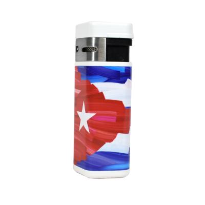 Palio Charlie Turano III Triple Torch Jet Cigar Lighter - Cuban Flag
