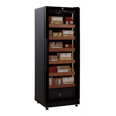 Swisscave Cigar Cabinet Black Climate Controlled Humidor - 1100 Capacity
