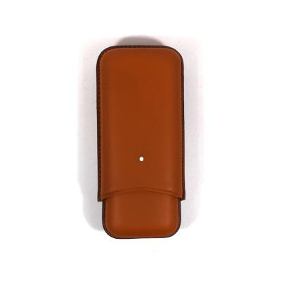 Dunhill Sidecar Cigar Case Robusto - Terracotta - Fits 2 Cigars