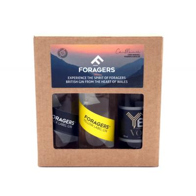 Foragers Gin & Vodka 3x5cl Gift Set