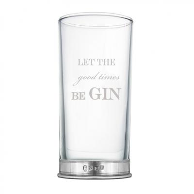 Let the Good Times Be Gin 12oz Tall Glass - BAR209