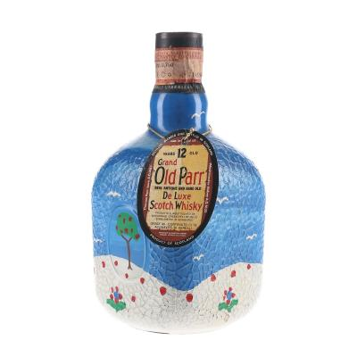 Grand Old Parr 12 Year Old 1970s Hand Painted Bottle Whisky - 75cl  40%