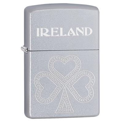 Zippo - Shamrock Satin Chrome - Windproof Lighter