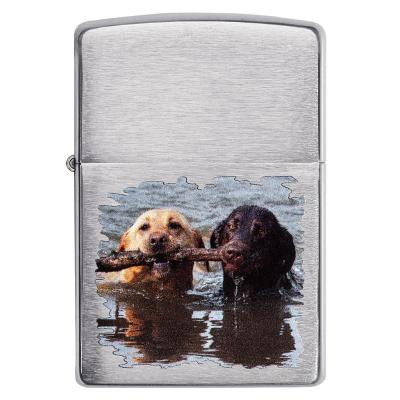 Zippo - Brushed Chrome Labradors - Windproof Lighter