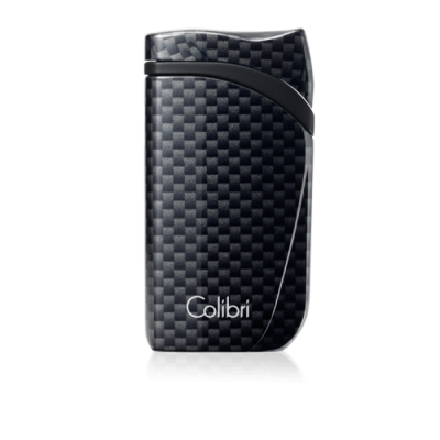 Colibri Falcon Carbon Fiber Single-jet Flame Lighter - Black