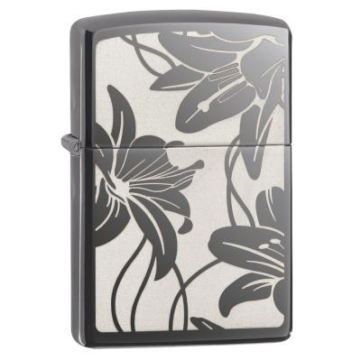 Zippo - Lily Black Ice - Windproof Lighter