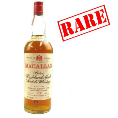 Macallan 12 year old Pure Highland Late 1960s - 70 Proof 26 2/3 FL OZS
