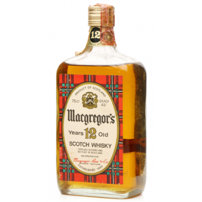 Macgregors 12 Year Old Blended Scotch Whisky - 75cl 43%