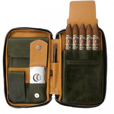 Peter James Cigar Aficionado Handmade Leather Travel Case - Master