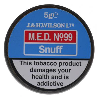 J & H Wilson – M.E.D No99 Snuff – Small Tin - 5g