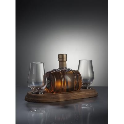 Mini Whisky Barrel Decanter And 2 Whisky Glasses - 200ml