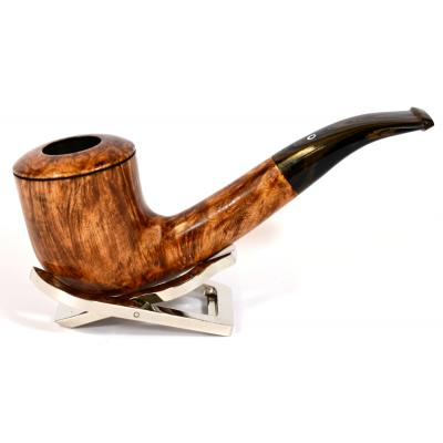 Northern Briars Bruyere Premier G4 Dublin Smooth Bent 9mm Filter Fishtail Pipe (NB28)