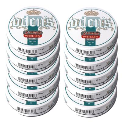 Odens Double M. Extreme White Dry Tight Chewing Tobacco Bag - 10 Tins