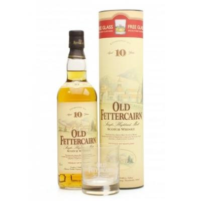 Old Fettercairn 10 Year Old Vintage With Glass - 70cl 40%