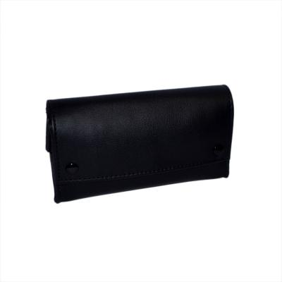 Black Leatherette Hand Rolling Tobacco and Paper Holder