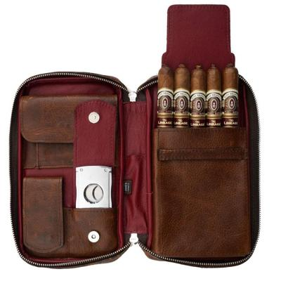 Peter James Aficionado Hand Made Cigar Case - Ruby
