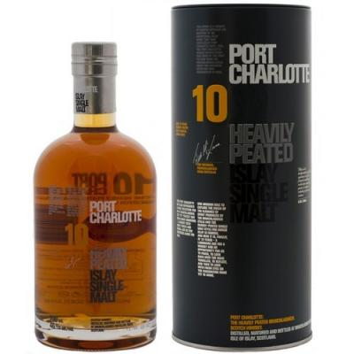 Bruichladdich Port Charlotte 10 Year Old Heavily Peated Whisky - 70cl 50%