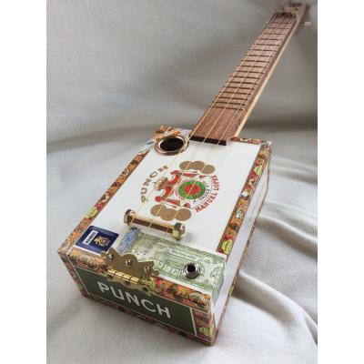 Handcrafted Punch Cigar Box Guitar