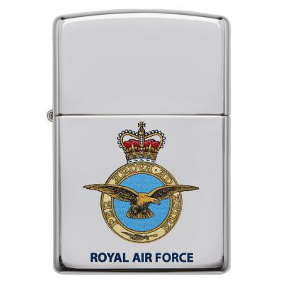 Zippo - High Polish Chrome Official Royal Air Force - Windproof Lighter