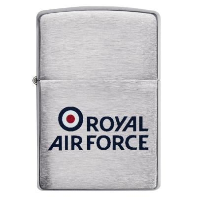 Zippo - Brushed Chrome Royal Air Force Logo - Windproof Lighter