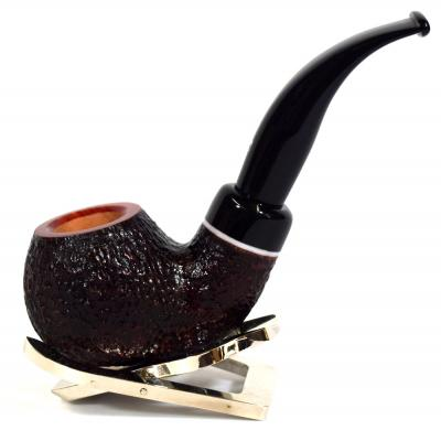 Savinelli Gaius 641 Rustic 6mm Filter Fishtail Pipe (SAV362)