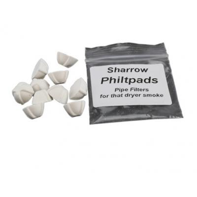 Sharrow Philtpads White Chalk Pipe Filter - Bag of 10
