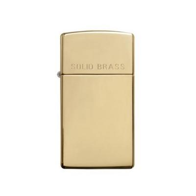 Zippo - High Polished Brass Slim Solid Brass - Windproof Lighter