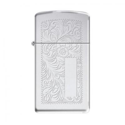 Zippo - High Polished Chrome Venetian Slim - Windproof Lighter