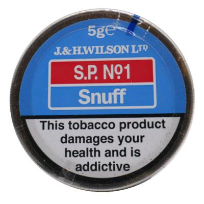 J & H Wilson – Sp No 1 Snuff - Small Tin - 5g