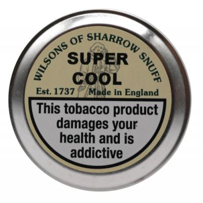 Wilsons of Sharrow Snuff - Super Cool - Large Tin - 20g (END OF LINE)