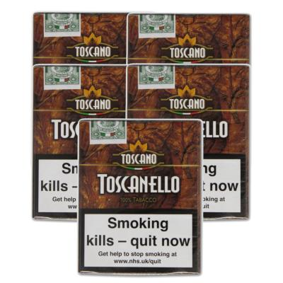 Toscanello Cigar - 5 Packs of 5  (25 cigars)