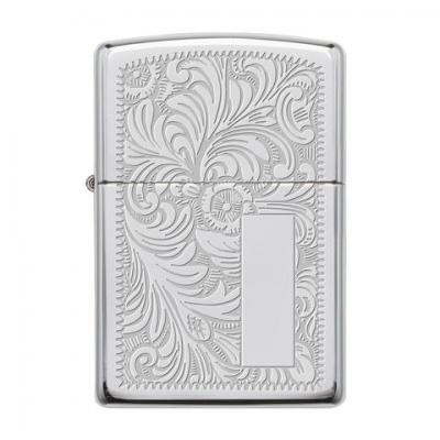 Zippo - High Polished Chrome Venetian Regular - Windproof Lighter
