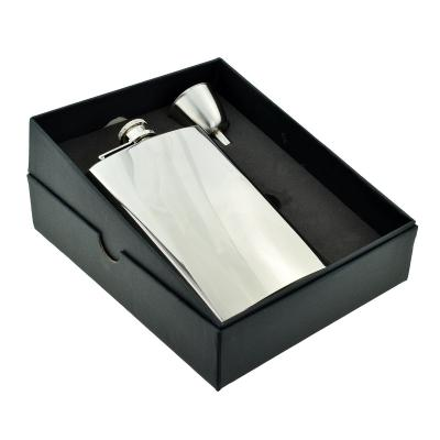 8oz Tall Size Stainless Steel Hip Flask with Funnel