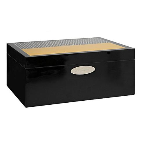 ST Dupont - Okoume Wood Black & Yellow Lacquer  - 50 Cigars Humidor - Cohiba Limited Edition