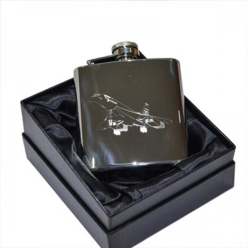 6oz Concorde Design Personalised Hip Flask