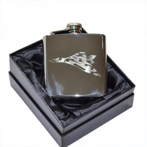 6oz Vulcan Bomber Plane Personalised Hip Flask