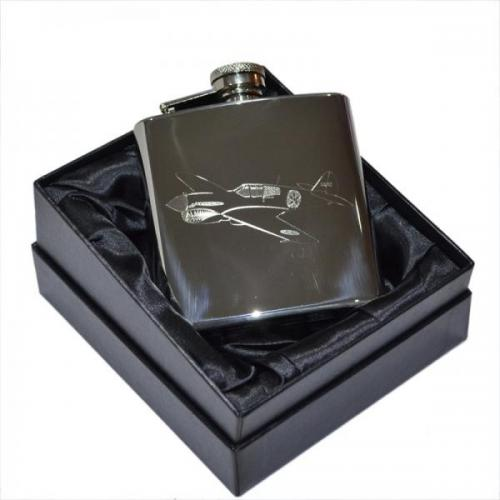 6oz Flying Tiger Personalised Hip Flask