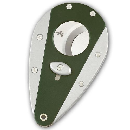 Xikar Cigar Cutter - Twin Colour - Green and Silver