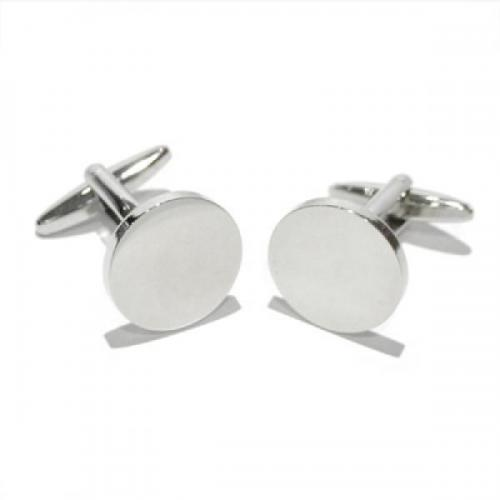 Large Circular Personalised Cufflinks