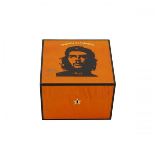 Elie Bleu Che Collection Robusto Orange Humidor - 25 Cigar Capacity