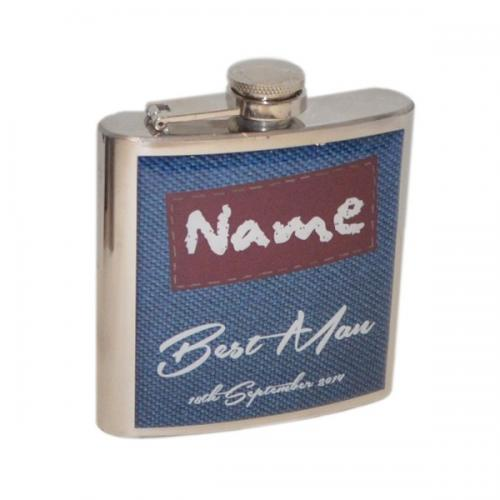 6oz Best Man Personalised Hip Flask