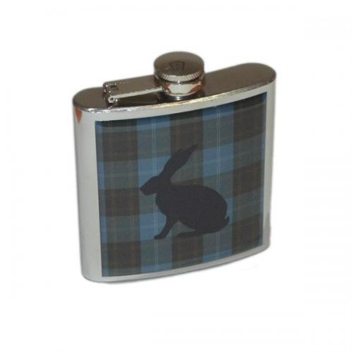 6oz Tartan Hare Personalised Hip Flask