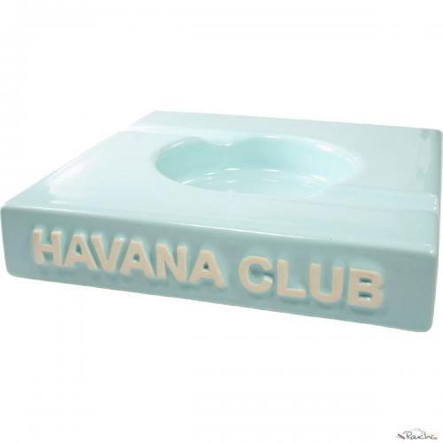 Havana Club Ashtray – El Duplo Double Cigar Ashtray – Caribbean Blue