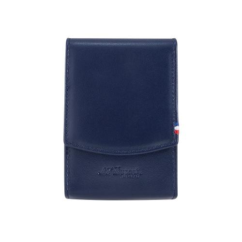ST Dupont Blue Leather Cigarette Pack Case