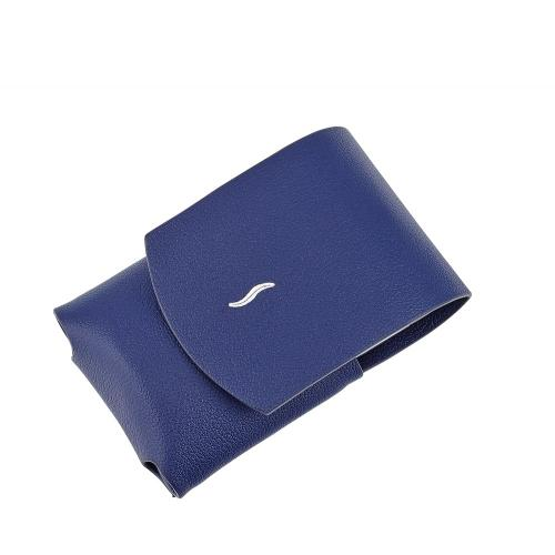 ST Dupont Minijet Leather Lighter Case - Blue